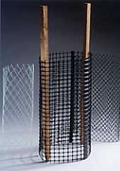 Extruded Plastic Mesh For Safety Fencing And Plant Support