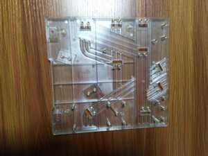 Transparent plastic molding