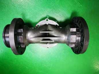Plastic solenoid valves body