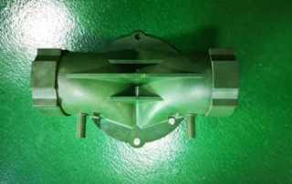 Plastic solenoid valves housing
