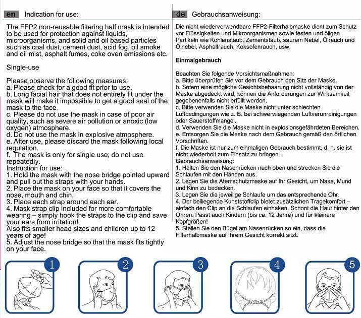 EN149 ffp2 face mask