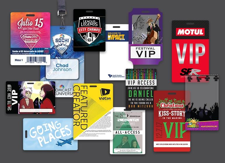 Conference Badges Event Badges Plastic Printers Inc