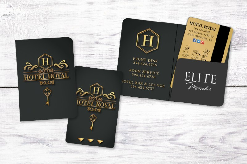 hotel key card envelopes