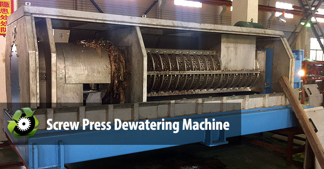 Screw Press Dewatering Machine Plastic Recycling Machine