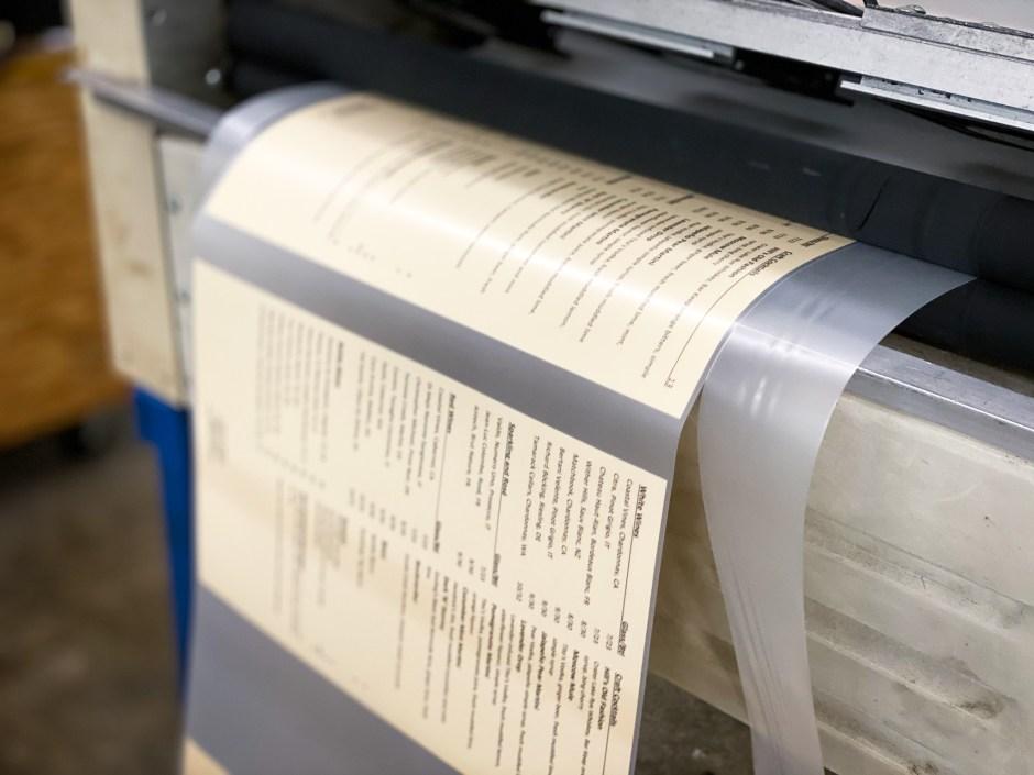 Custom printing and lamination service