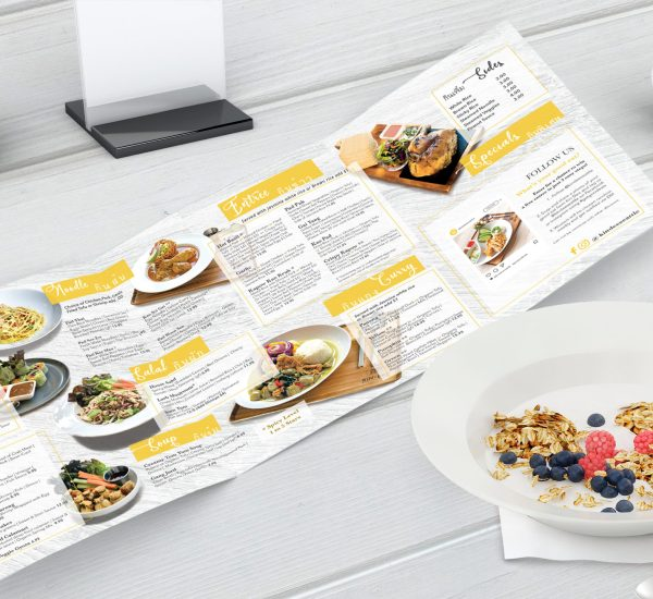 Fast casual resturant menu design