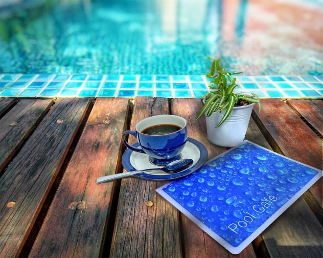Pool menu and coffee