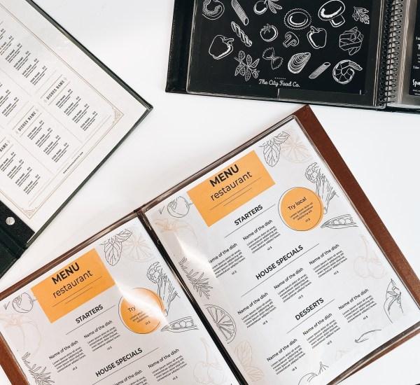 menu sleeves
