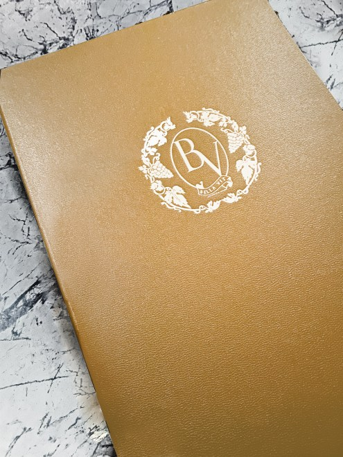 gold menu cover