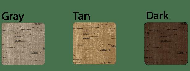 Cork menu cover colors
