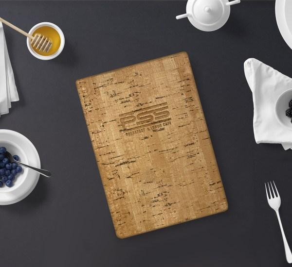 cork menu cover