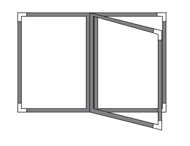 3 panel book menu cover