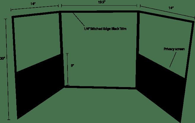 stitched edge desk shield
