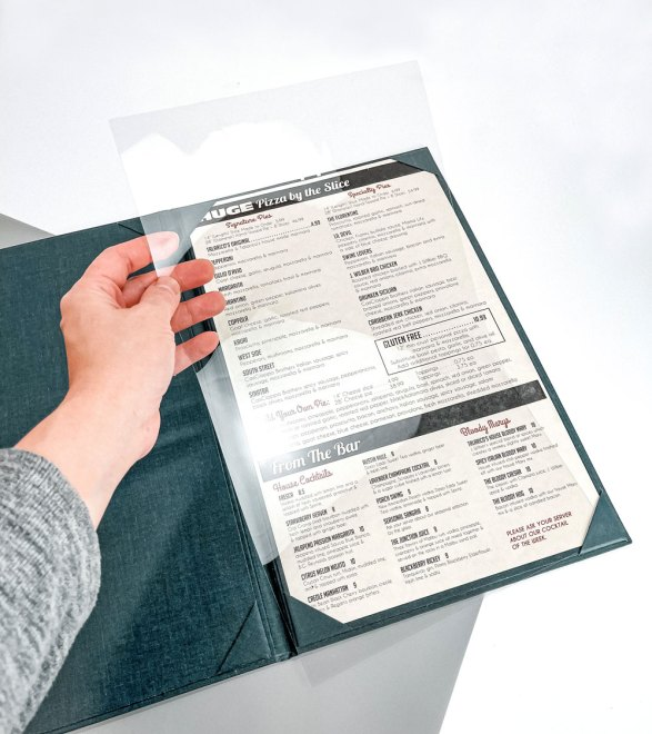 menu overlay