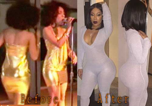 K Michelle with butt implants