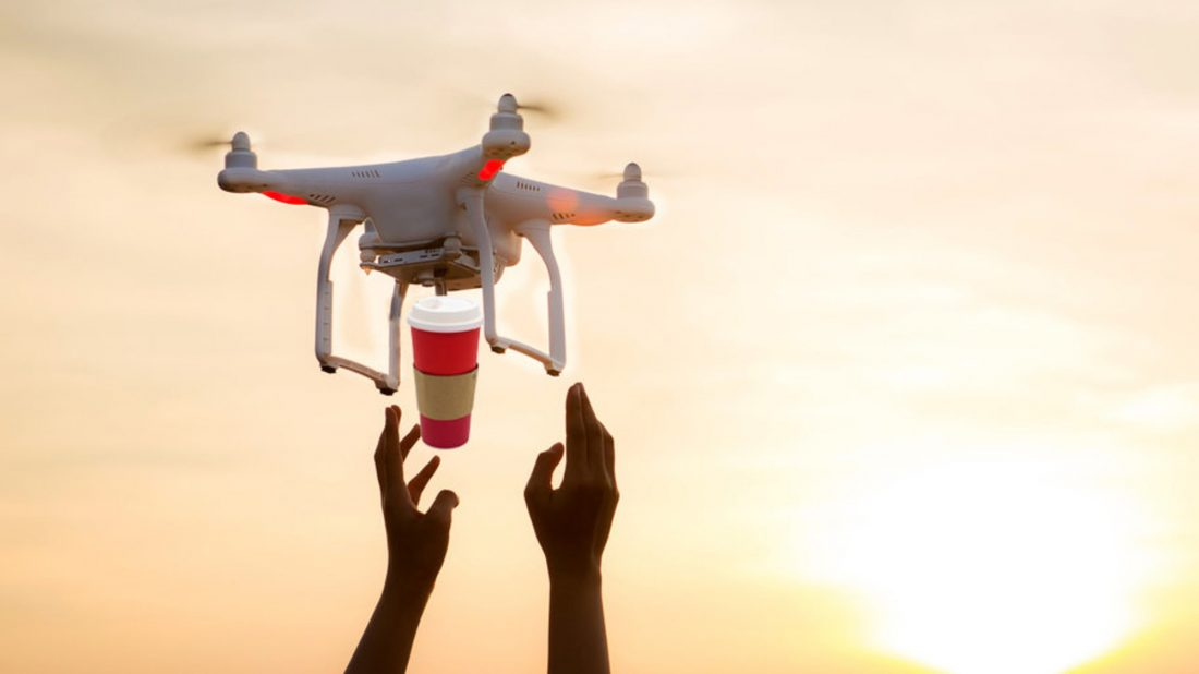 drones that deliver coffee
