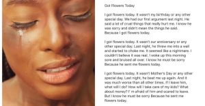 """""""I Got Flowers Today"""", An Adaptation Of Paulette Kelly's Domestic Violence Poem"""