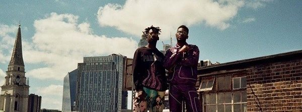 """Nonso Amadi and Mr Eazi in """"Go Outside"""" music video"""
