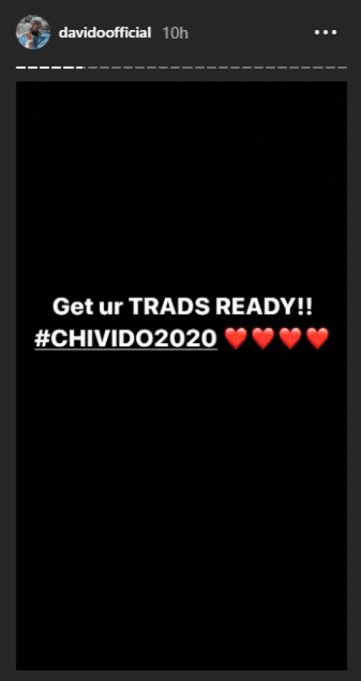 Davido And Chioma Are Getting Married!