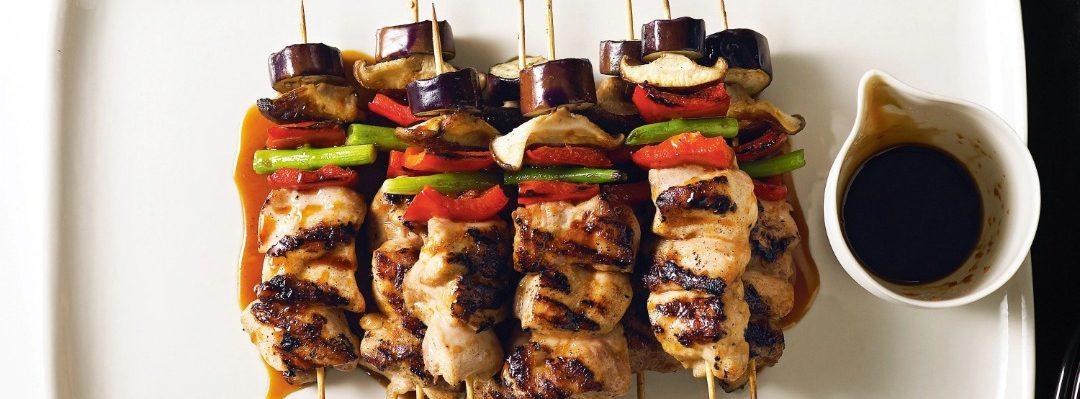 Japanese chicken yakitori kebabs