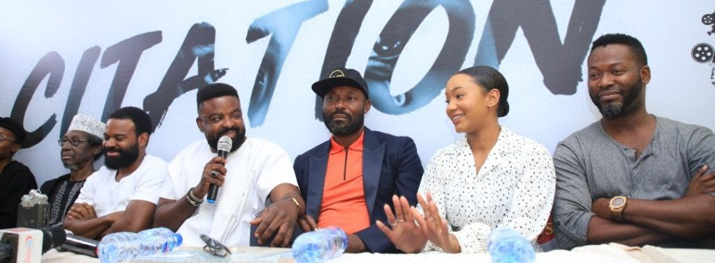 """Kunle Afolayan in press conference about new film, """"Citation"""""""