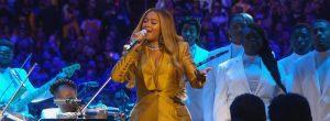 Beyoncé Performs At LA Memorial For Kobe Bryant And Daughter
