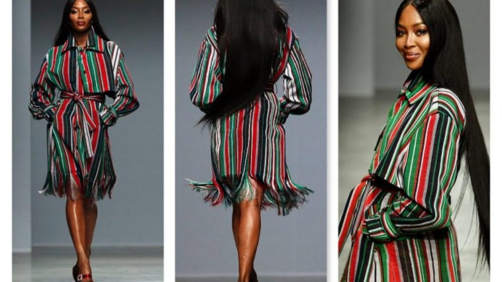Naomi Campbell Storms Paris Fashion Week In Nigerian Kenneth Ize's Designs