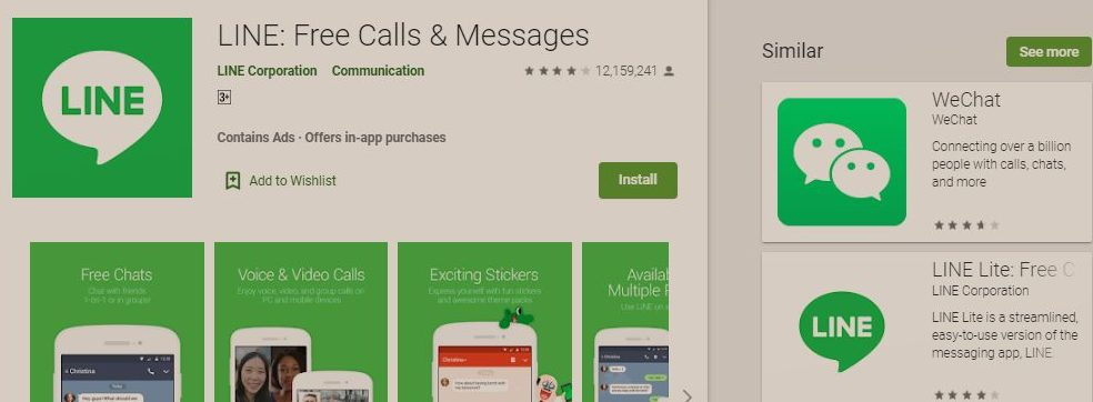 LINE Is The Highest Grossing App On Nigeria's Google Play Store This Week