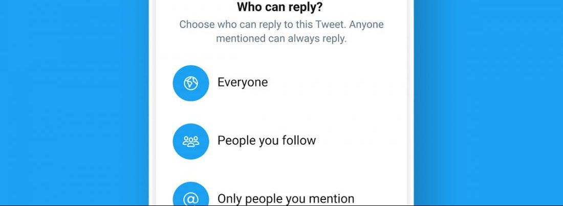 Twitter Limited replies