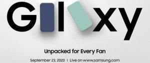 Samsung Announces September 23rd Event For Galaxy S20 Fan Edition