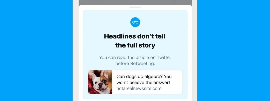 Twitter read the article before you retweet it