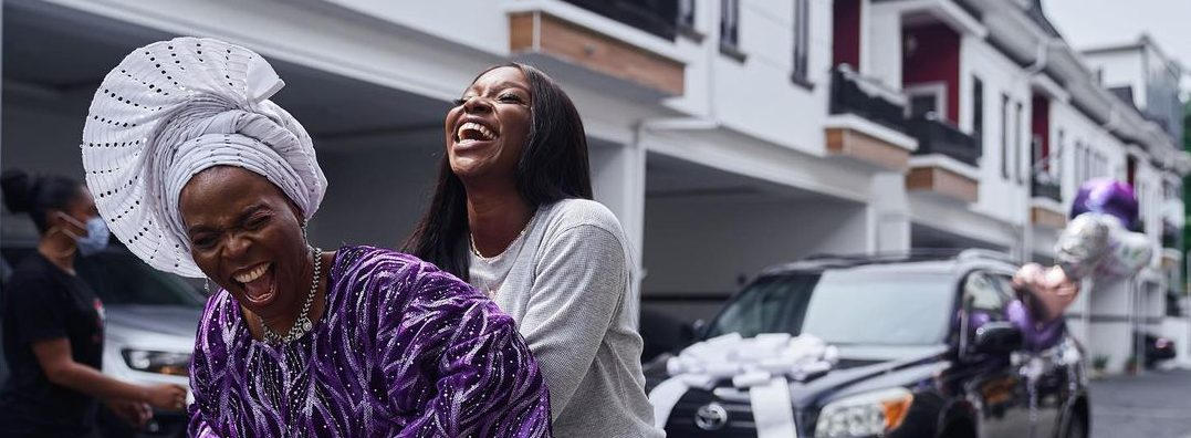 TV Host Tomike Adeoye Buy Mum With A New Car With First Vlogging Payment