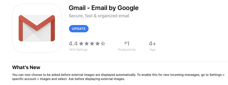 Gmail App Privacy Labels