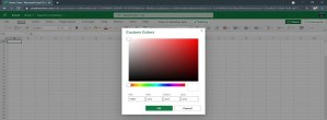 Excel For The Web Gets A Custom Color Palette And Formatting Enhancements