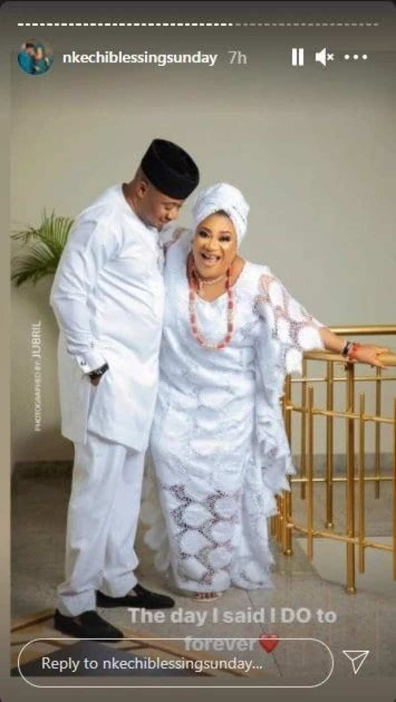 Actress Nkechi Blessing Surprises Her Followers With Her Wedding Photos