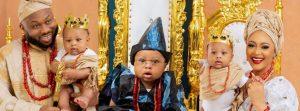 Olakunle Churchill And Rosy Meurer Finally Reveal Son's Face