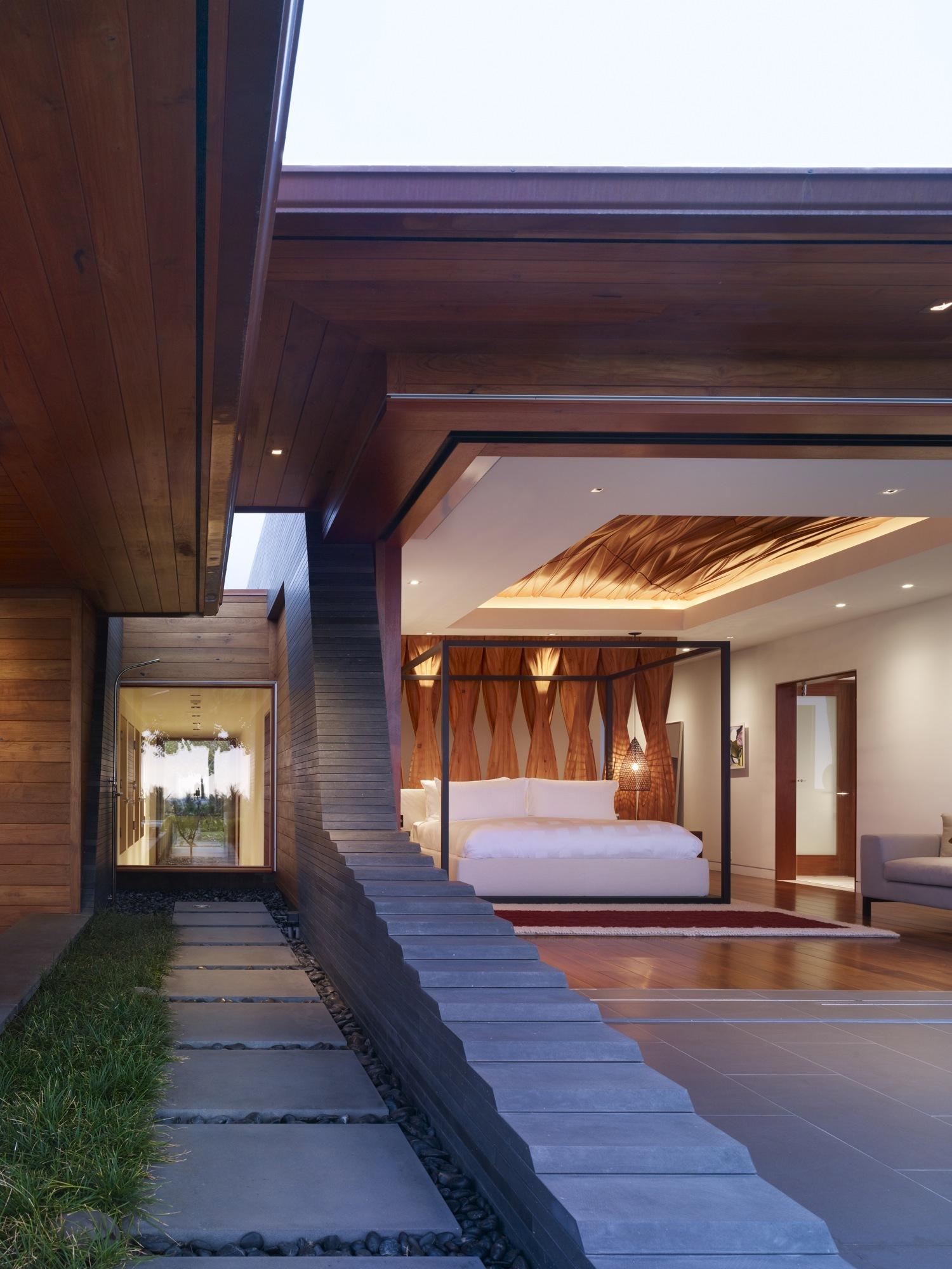 Kona Residence, Belzbeg Architects, Vue chambre