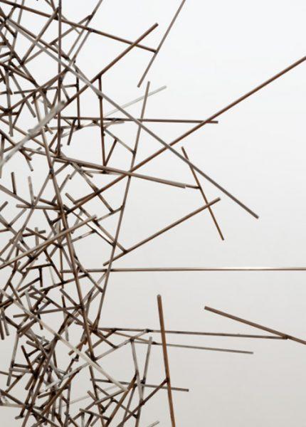 Antony Gormley. Detalle obra Quantium Void VIII (2010) - Detalle obra Sófia Táboas. La belleza (2015) - Premio Fundación María José Jove