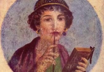 La imagen tiene un atributo ALT vacío; su nombre de archivo es una-mujer-romana-escritora-fresco-en-pompeya1.jpg