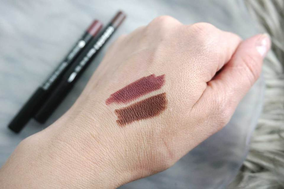 Sephora Collection Nano Lip Liners in Brilliant Berry and Chic Choco