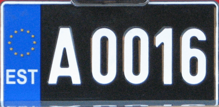 Estonian license plates Oldtimer plates are issued without Euroband since October 2008