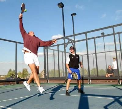 platform tennis strokes and shots