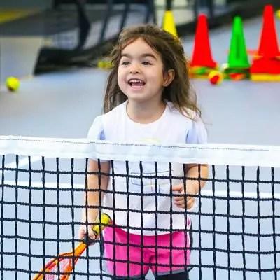 teaching girls to play platform tennis