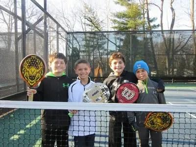 platform tennis coaching for 8-9 year old boys