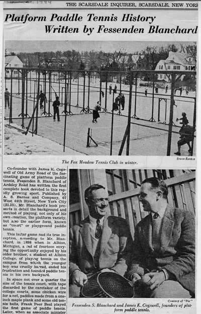 History of platform tennis