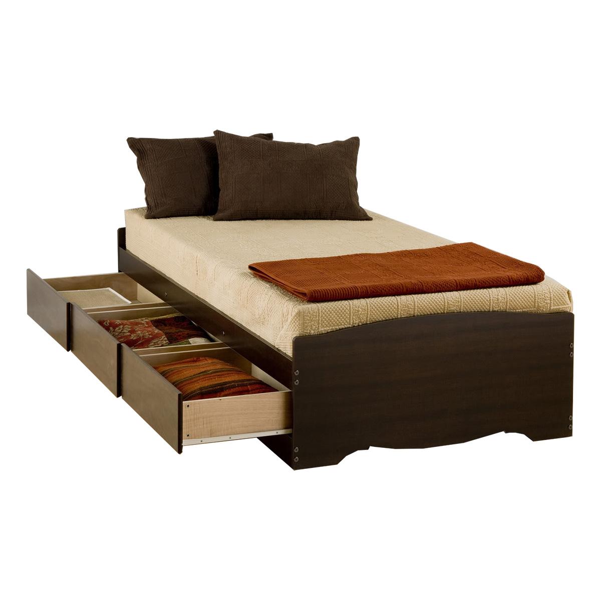 Storage Platform Bed Espresso