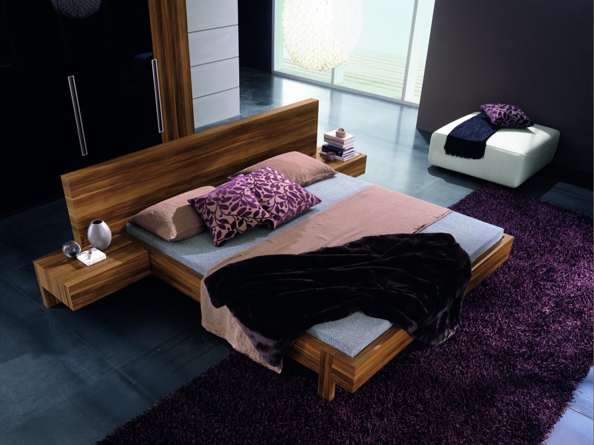 Marin Modern Platform Bed With Optional Leather Backrests