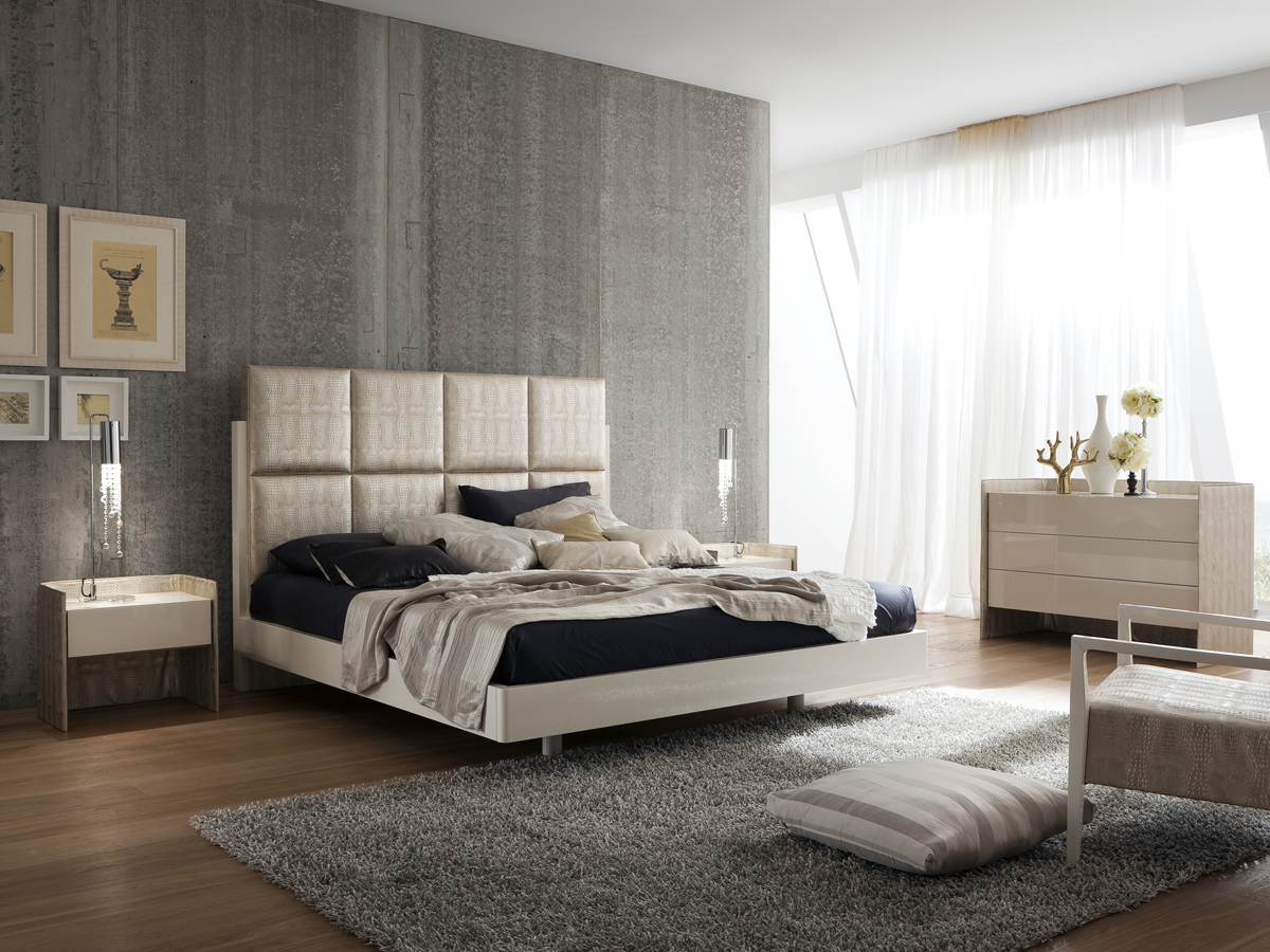Theron Leather Platform Bed
