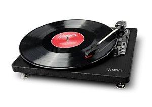 ION – Compact LP Platine Vinyle 3-Vitesses Convertisseur | Convertisseur de musique analogique au format numérique | Compatible avec Mac & PC | Sorties RCA | Incl. Logiciel de conversion EZ Vinyl