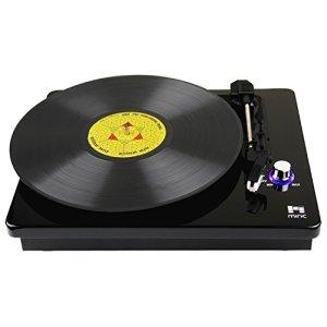 Miric Platine Vinyle, Tourne Disque 3 Vitesses et Haut-parleur stéréo double intégré prise RCA